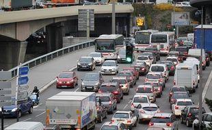 La circulation à Lyon au abords du tunnel de Fourviere le 13 novembre 2012. CYRIL VILLEMAIN/20 MINUTES