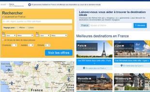 Capture d'écran du site de réservation hôtelière Booking.com.