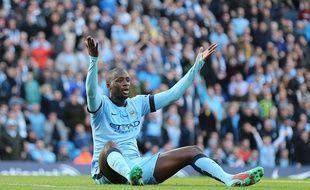 Le milieu de terrain de Manchester City Yaya Touré, le 2 novembre 2014, contre Manchester United.