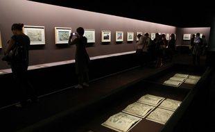 Vue de l'exposition Hokusai au Grand Palais à Paris jusqu'au 18 janvier 2015