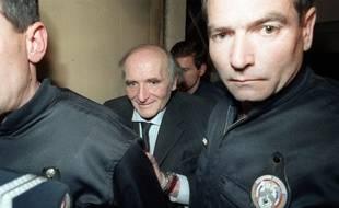 Klaus Barbie, en 1987, lors de son procès à Lyon.