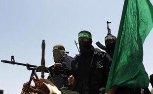Des soldats de la branche armée du Hamas, les Brigades Ezzedine al-Qassam, à Deir el-Balah dans la bande de Gaza, le 30 juin 2014
