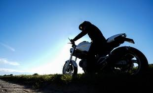 Une moto (illustration)