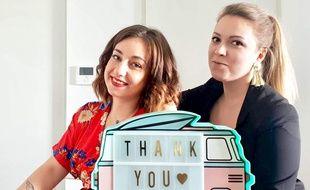 Marina et Charlotte rêvent d'un institut de beauté roulant.