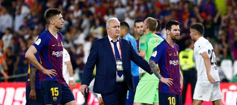 Le Barça a perdu la finale de la Coupe du Roi face à Valence, le 25 mai 2019.