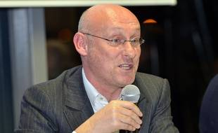 Bernard Laporte lors d'une conférence de presse à Vienne, le 2 février 2016.