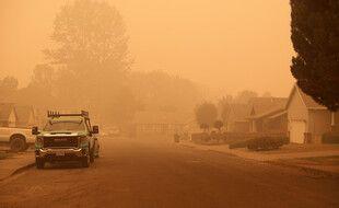 Dans l'Oregon, au moins 500.000 personnes ont reçu l'ordre d'évacuer leur domicile menacé par les incendies, le 10 septembre 2020.