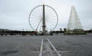 La place de la Concorde et sa grande roue, le 14 novembre 2015 à Paris