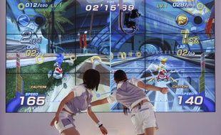 La technologie Kinect de Microsoft en démonstration au Tokyo Game Show à Chiba, à l'est de Tokyo (Japon).