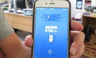 """La page d'accueil de l'application """"Besoin d'un toi""""."""