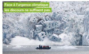 Vous ne verrez pas cette affiche conçue par l'agence Strike pour Greenpeace dans le métro parisien. Elle a été retoquée par la région Mediatransports.