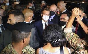 Emmanuel Macron à son arrivée à Beyrouth, au Liban, le 31 août 2020.