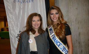 Valérie Trierweiler et Miss France 2015 au Noël du Secours Populaire le 9 décembre 20104
