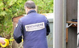 Un gendarme de l'identification criminelle. Illustration.