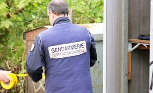 Un gendarme de l'identification criminelle. Illustration.