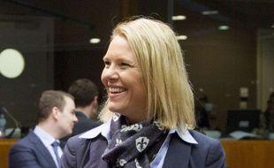L'ex ministre de la Justice norvégienne Sylvi Listhaug à Bruxelles, le 10 mars 2016.