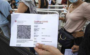 Un QR code de vaccination contre le coronavirus (illustration).