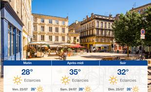 Météo Bordeaux: Prévisions du jeudi 22 juillet 2021
