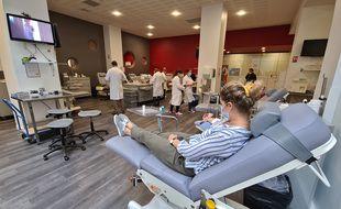 Hortense, une donneuse régulière de sang à Lille.