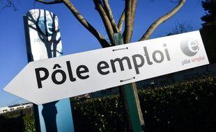 Un panneau vers Pôle emploi. (illustration)