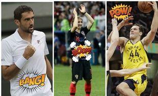 Marin Cilic, Luka Modric et Bojan Bogdanovic. Trois stars du sport croate parmi tant d'autres.