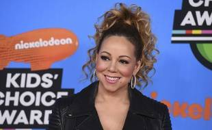 La chanteuse Mariah Carey à Inglewood aux Etats-Unis.