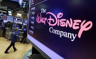 Le logo de Disney au New-York Stock Exchange (NYSE), le 7 août 2017.