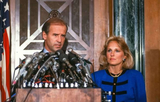 Joe Biden announces his withdrawal from the presidential race on September 23, 1987.