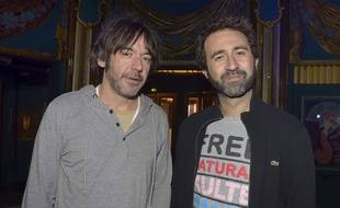 Les humoristes Thomas VDB et Mathieu Madenian le 6 novembre 2016.