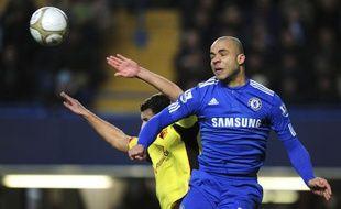 Le défenseur de Chelsea, Alex, lors d'un match de FA CUP le 3 janvier 2010.