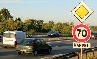 La vitesse sur la rocade de Rennes a été abaissée de 20 km/h le 1er octobre 2015.