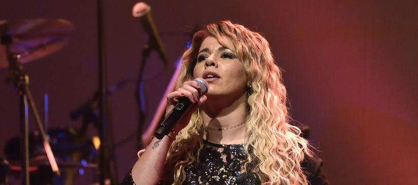 L'artiste Chimène Badi lors d'un concert au Bataclan à Paris le 3 février 2018