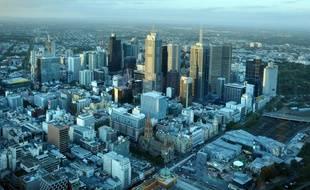Vue aérienne de Melbourne, en Australie, en avril 2014.