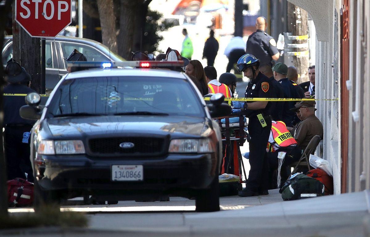 Une fusillade a éclaté dans les locaux d'UPS à San Francisco, le 14 juin 2017. – AFP