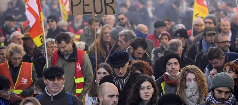 Mobilisation du 5 décembre contre les retraites.