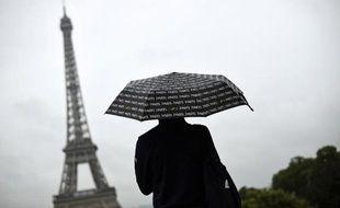 Jour de pluie à Paris le 8 août 2014