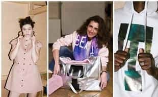 Robe néoprène de Laila Soares, Mademoiselle Agnès et son Beach bag XXL, un sweat créé par Julie Rubio.