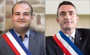 Photo montage datant du 5 avril 2014 de David Rachline (g) et Stéphane Ravier, les deux premiers élus FN à faire leur entrée au Sénatt
