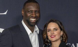 L'acteur Omar Sy et son épouse Hélène