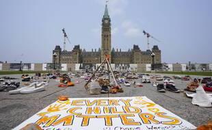 Le 19 juillet, lors d'une précédente manifestation devant le parlement du Canada. (archives)
