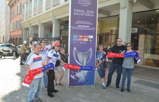 Les OL Ang'Elles ont passé la journée dans le centre-ville de Reggio Emilia avant de rejoindre le stade en milieu d'après-midi jeudi.