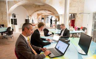 Bordeaux, 2 octobre 2012. - Le nouvel espace de travail collaboratif et dÕanimation (coworking) Node. - Photo : Sebastien Ortola