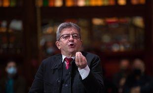 Jean-Luc Mélenchon au Cabaret sauvage, à Paris.