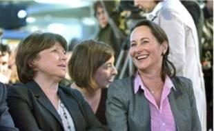 Martine Aubry et Ségolène Royal, samedi.