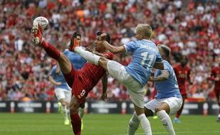 Un duel lors de City-Liverpool