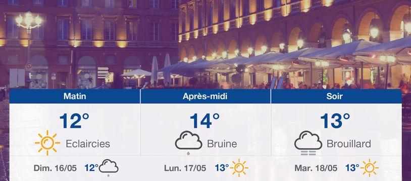 Météo Toulouse: Prévisions du samedi 15 mai 2021