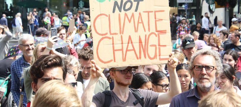 Manifestation pour l'action contre le réchauffement climatique à Sydney, en mars 2019.