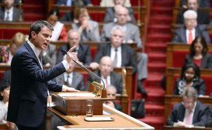 Le Premier ministre Manuel Valls le 8 avril 2014 à l'Assemblée nationale à Paris