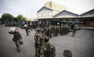 Illustration de militaires français,