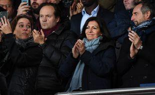 Anne Hidalgo lors du match PSG - OL en février 2020.